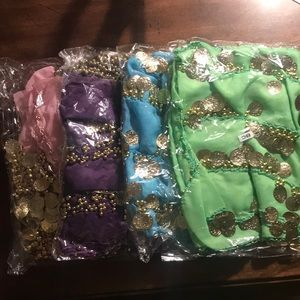 Accessories - Lot of 4 belly dancing skirts/wraps